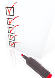 Checklist with pen Royalty Free Stock Photos