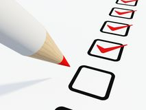 Checklist with pen Royalty Free Stock Photography