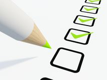 Checklist with pen Royalty Free Stock Photo