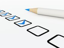 Checklist with pen Royalty Free Stock Image