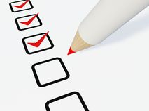 Checklist with pen Stock Photo