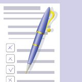 Checklist and Pen Stock Photography