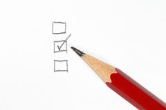 Checklist and pencil Stock Photos