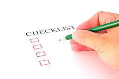 Checklist with pencil Stock Image