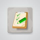 Checklist with a pencil. Vector icon Stock Images