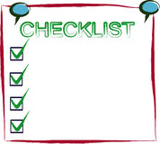 Checklist post it Royalty Free Stock Images