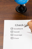 Checklist Quality control. Stock Photography
