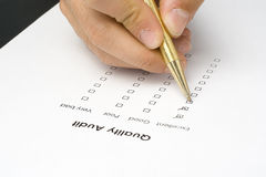 Checklist questionnaire quality of service Stock Photography