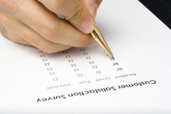 Checklist questionnaire quality of service royalty free stock photography