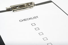 Checklist questionnaire quality of service Stock Images