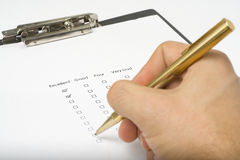 Checklist questionnaire quality of service Stock Photo