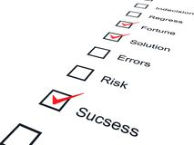 Checklist with red marks Stock Image