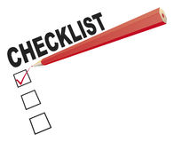 Checklist with red pen Stock Photography