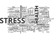 A Checklist For Stress Word Cloud Royalty Free Stock Photography
