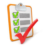 Checklist success Stock Images