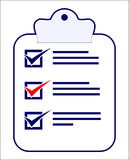 A checklist with tasks to do. A checklist with all boxes ticked Stock Photos