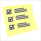 A checklist with tasks to do Royalty Free Stock Photo