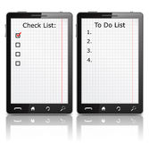 Checklist and To Do list Royalty Free Stock Photo