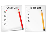 Checklist and todo list Stock Images