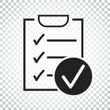 Checklist vector icon. Survey vector illustration in flat design Royalty Free Stock Photography