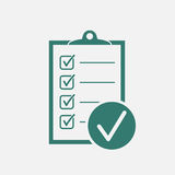 Checklist vector icon. Survey vector illustration in flat design Royalty Free Stock Photo