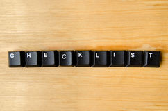 Checklist word. With keyboard buttons Stock Photography