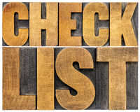 Checklist word typography Stock Photo