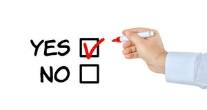 Checklist - Yes or No Royalty Free Stock Photography
