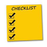 Checkliste Stockfotos