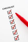 Checkliste Stockfotos