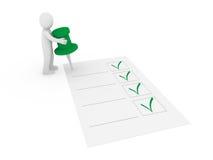 Checkliste der Heftzwecke 3d Lizenzfreie Stockbilder