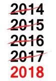 Checkliste für neues Jahr 2018 Lizenzfreies Stockbild