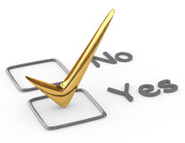 Checkliste mit Goldkontrolle Stockbild