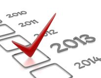 Checkliste mit rotem Check Lizenzfreie Stockfotos