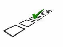 Checkliste Symbole Stockbilder