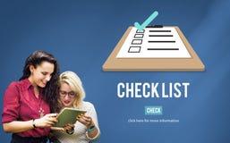 Checklisten-auserlesenes Entscheidungs-Dokument Mark Concept lizenzfreie stockfotos