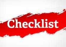 Checklisten-rote Bürsten-Zusammenfassungs-Hintergrund-Illustration lizenzfreie abbildung