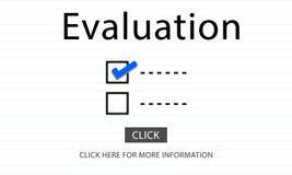 Checklisten-Wahlen, zum des Rechnungsprüfungs-Bewertungs-Konzeptes zu tun stock abbildung
