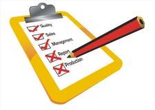 Checklistenabbildung Lizenzfreies Stockfoto