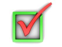 Checkmark. 3d illustration of check mark over white background Royalty Free Stock Image