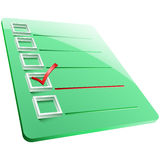 Checkmark Board Answer Yes One Stock Images