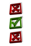 Checkmark in the box, 3D.  Royalty Free Stock Image