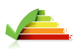 Checkmark colorful graph illustration design Stock Image