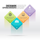 Checkmark Copyspace Infographic Royalty Free Stock Images