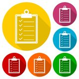 Checkmark Icon with long shadow. Vector icon royalty free illustration