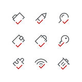 Checkmark icon set 03 Royalty Free Stock Photography