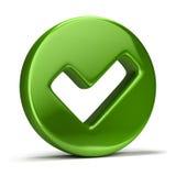 Checkmark ikona Zdjęcie Stock