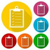 Checkmark ikona z długim cieniem Zdjęcia Royalty Free