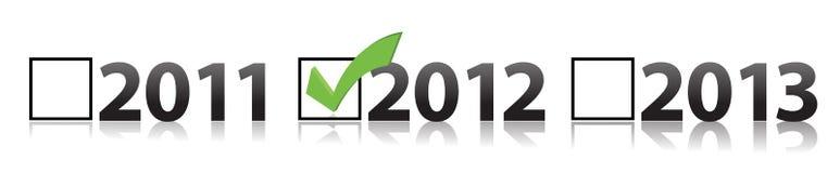 Checkmark selecting 2012. Illustration design vector illustration