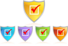 Checkmark Shield Royalty Free Stock Photo